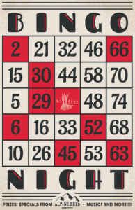 BINGO w/Alpine Brewing